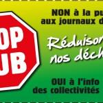 """Autocollant """"stop-pub"""""""