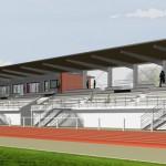 Stade d'athlétisme communautaire - Perspective 3D