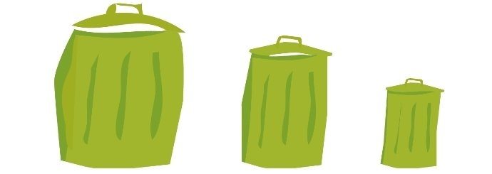Illustration réduire ses déchets