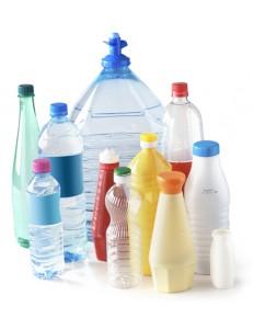 Illustration tri, bouteilles plastiques