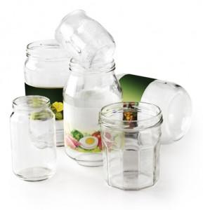 Illustration tri, bocaux en verre