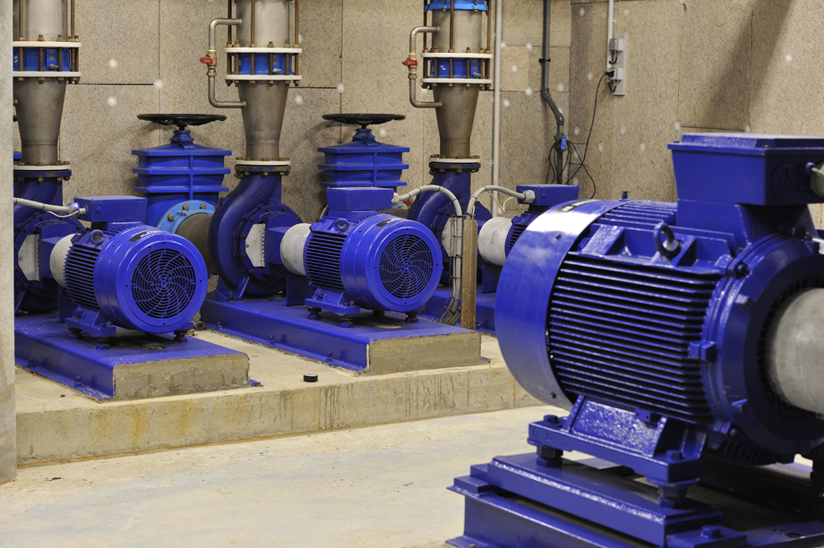 Pompe de l'usine de production d'eau potable de Bringall