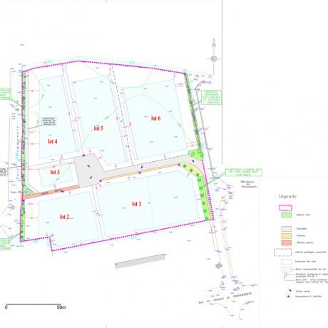 Plan de la zone d'activités de Hent Croas - Loctudy
