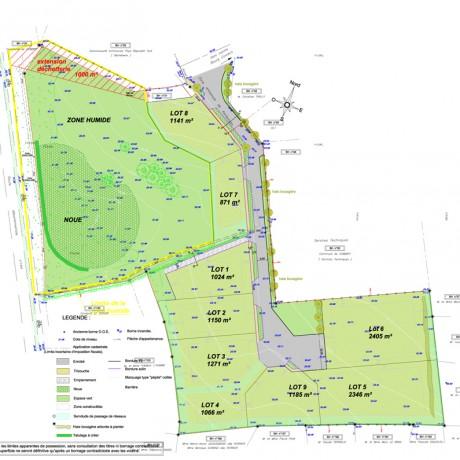 Plan de la zone d'acticités de Kerbenoen - Combrit
