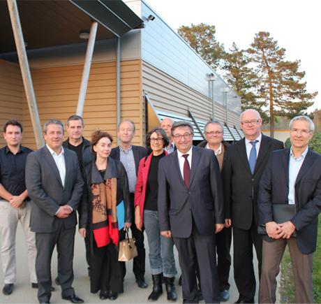 Raynald Tanter, Président de la CCPBS entouré des 10 vice-présidents