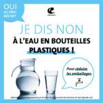 Non à l'eau en bouteilles plastiques