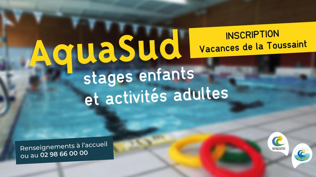 AquaSud : ouverture des inscriptions pour les vacances de la Toussaint